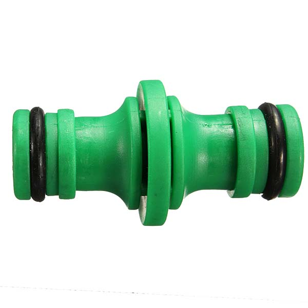 Buy green water pipe two way nipple joint hose plastic