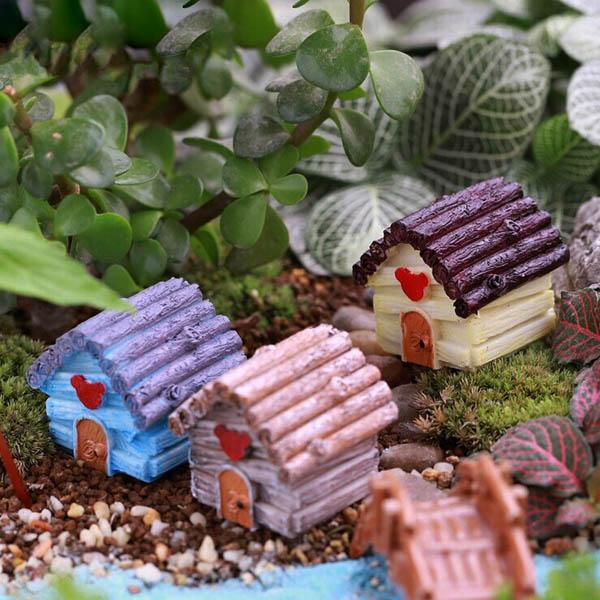 Buy Micro Landscape Decorations Resin Mini House Garden Diy Decor