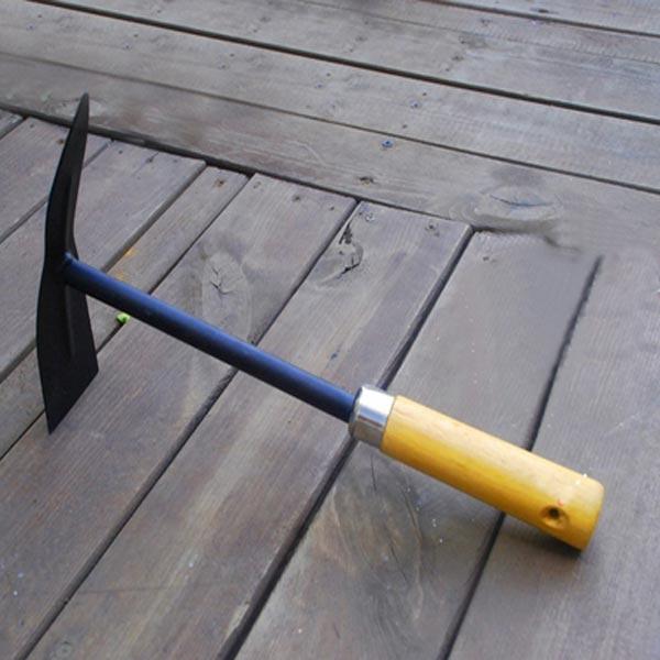 Buy wooden handle steel pickaxe head hoe gardening tools for Gardening tools description