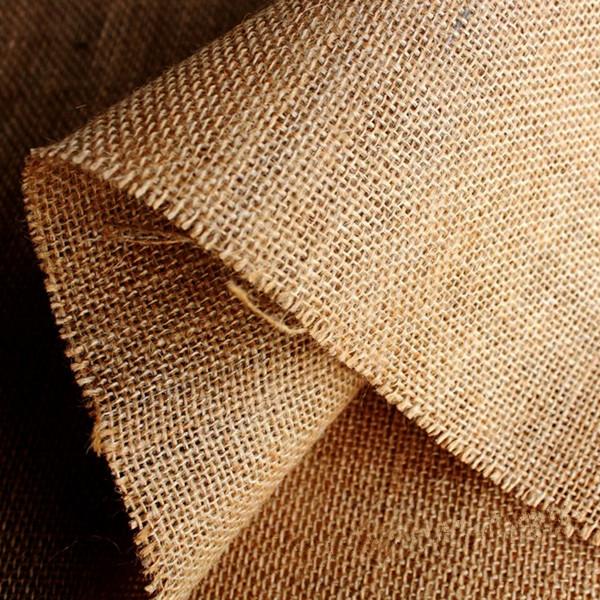 Buy 50x50cm natural jute burlap hessian fabric diy craft for Burlap fabric projects