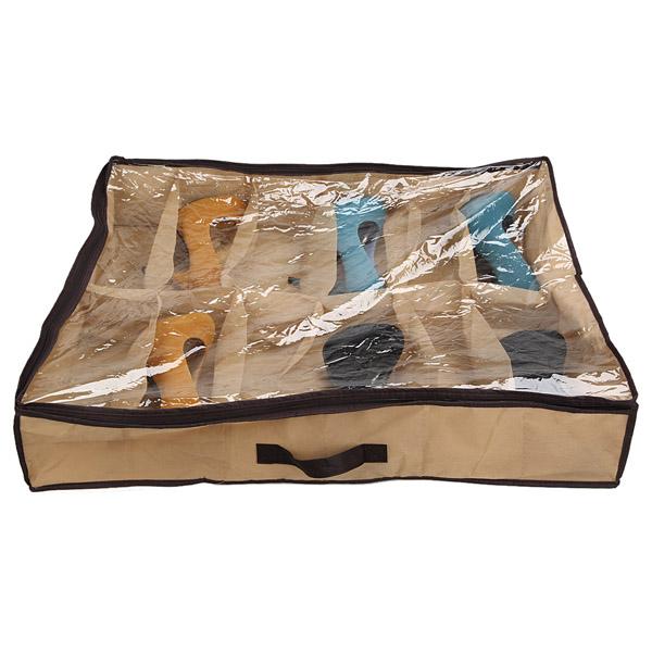 Köp 12 Par Tidy Under Sängen Tyg Skoförvaring Arrangör Box Closet Bag BazaarGadgets com