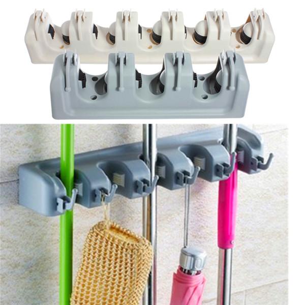 Buy Wall Mounted Mop Brush Broom Organizer Holder Hanger