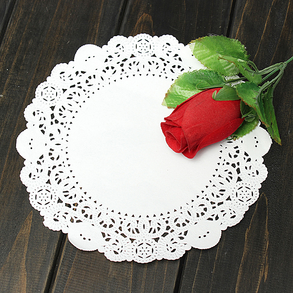 Cake Decoration With Paper : Buy 36pcs Round Paper Lace Doilies Place-mat Cake ...