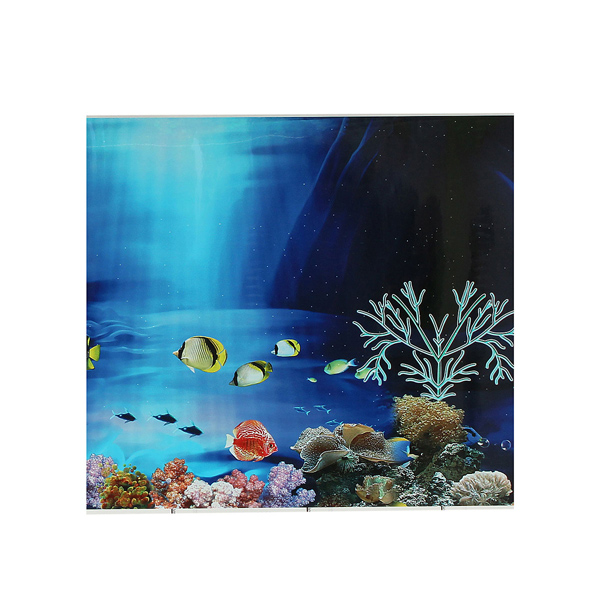 Buy aquarium double sided landscape poster fish tank for Aquarium background decoration
