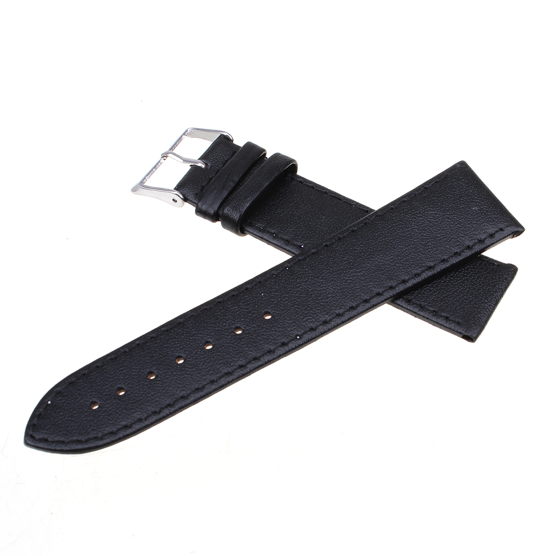Buy 16-22mm Mens Womens Genuine Leather Strap Buckle Watch ...