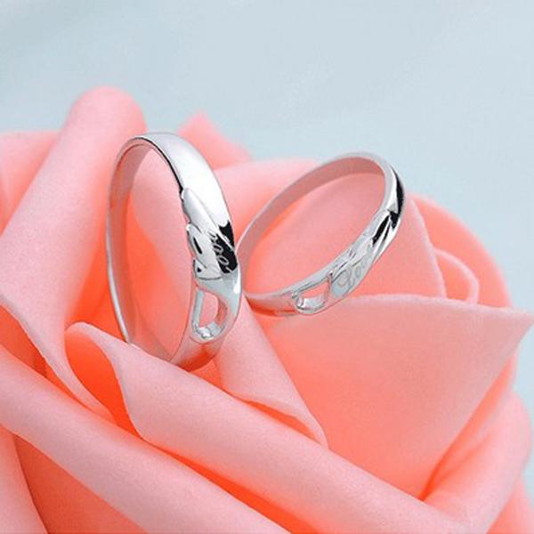 Buy Engraved Angel Wings Love Wedding Couple Rings ...
