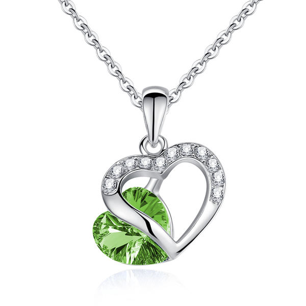 Buy Rhinestone Crystal Heart Shaped Pendant Necklace For