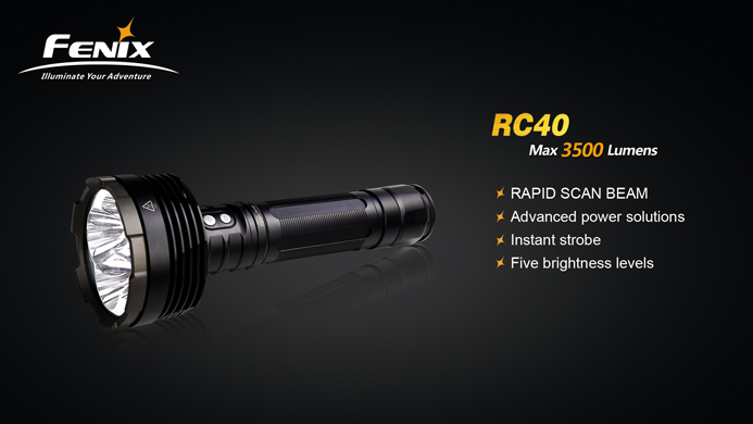 Buy FENIX RC40 CREE U2 3500 Lumen LED Flashlight ...