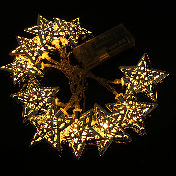Buy Battery Operated 1.2m 10 LED Stars String Fairy Lights Christmas Decor BazaarGadgets.com