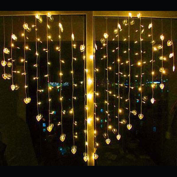 Buy Led Heart Shape Curtain Light Indoor Party Christmas