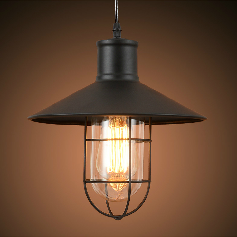 Buy Vintage Industrial Edison Light Iron Cage Ceiling Lamp