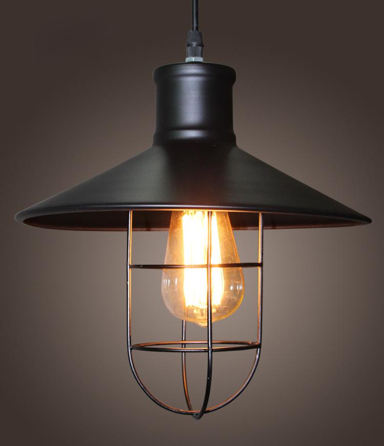 Köp Tappning Industriell Edison Ljus Järnbur Taklampa 110