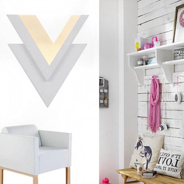 K b 10w modern v shape led v glampe opholdsstue stair for V shaped living room