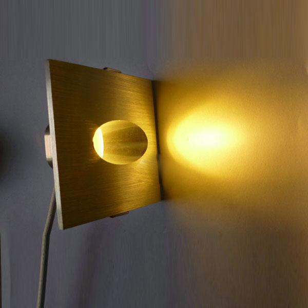 Buy 1w Square Aluminum Led Corner Wall Light Impaction