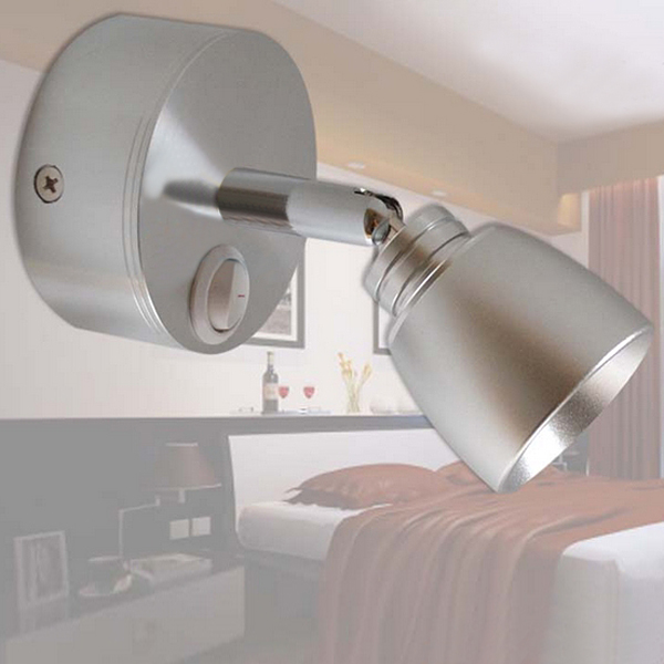 Buy 3W LED Aluminum Wall Lamp With Switch For Indoor Bedside Corridor BazaarGadgets.com