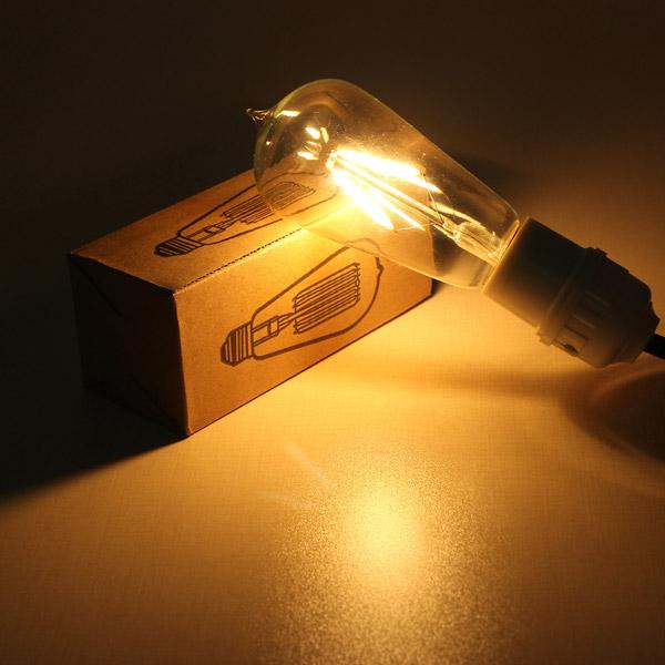 Buy E27 135mm St58 2w Retro Led Filament Edison Lamp Light