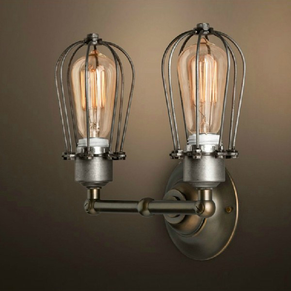 Buy Rh Type Double Wire Cages Wall Lamp Edison Light Bulb