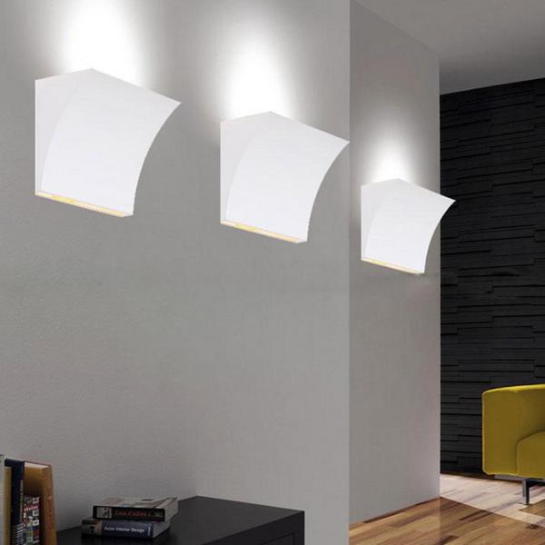 Wall Lamp Modern Design : Buy Simple Modern Design Fixture Decorative White Pocket Wall Lamp BazaarGadgets.com