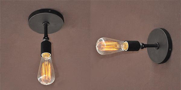 Kob Vintage Brief Retro Style V u00e6glampe Sconce Edison P u00e6re Lampe 220V BazaarGadgets com
