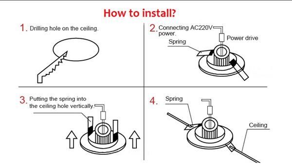 downlight spring clip instructions