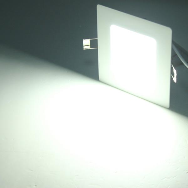buy 8w square ceiling panel white warm white led lighting ac 85 265v