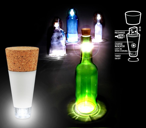 Buy Cork Shaped Rechargeable Usb Led Night Light Empty