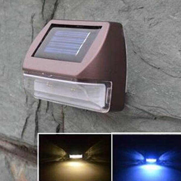 Solar Patio Wall Lights : Buy LED Solar Powered Wall Light Outdoor Landscape Garden Lawn Fence Lamp BazaarGadgets.com