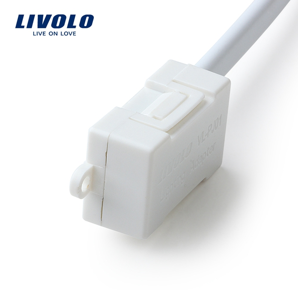 buy livolo white plastic lighting adapter for low wattage led lamp vl. Black Bedroom Furniture Sets. Home Design Ideas