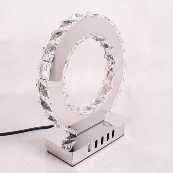 Buy Round Led Crystal Table Lamp Modern Diamond Ring Desk