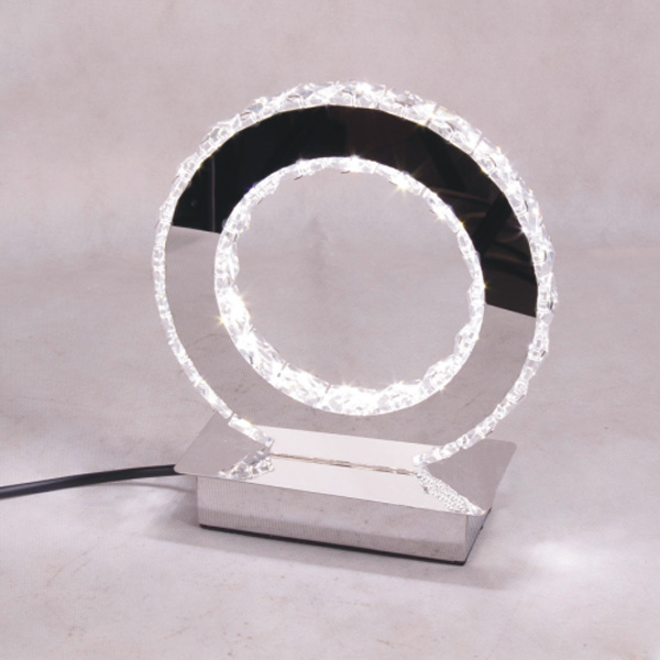 Buy Round Led Crystal Table Lamp Modern Diamond Ring Desk