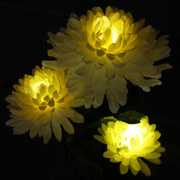 Buy Solar Power 3 Led Chrysanthemum Flower Light Outdoor