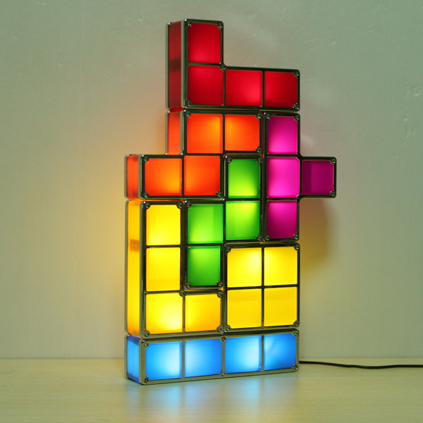 buy tetris diy constructible retro game style stackable led desk lamp. Black Bedroom Furniture Sets. Home Design Ideas