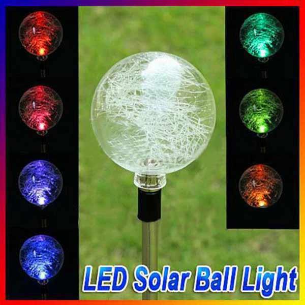 Buy Utility-type LED Solar Power Lawn Ball Light Garden