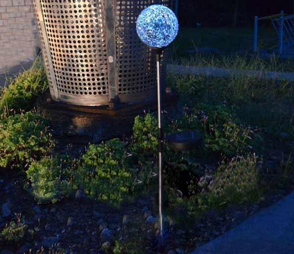 Buy Utility Type Led Solar Power Lawn Ball Light Garden