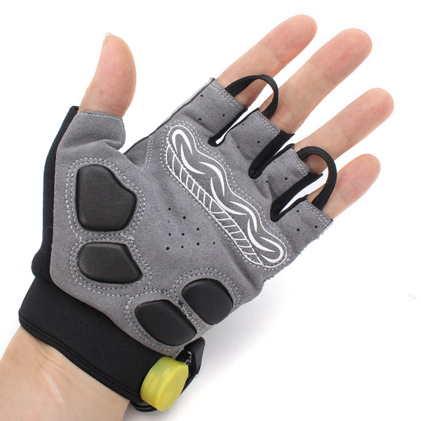 Buy Bicycle Bike Cycling Gloves Led Lighting Half Finger