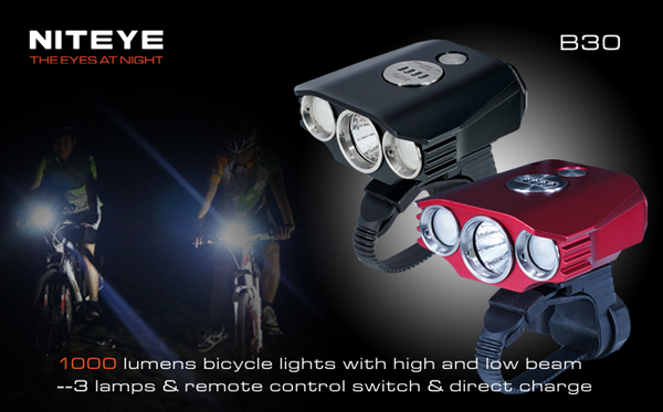 Buy Niteye B30 Cree XM-U2 LED 1000 Lumen Bike Bicycle ...