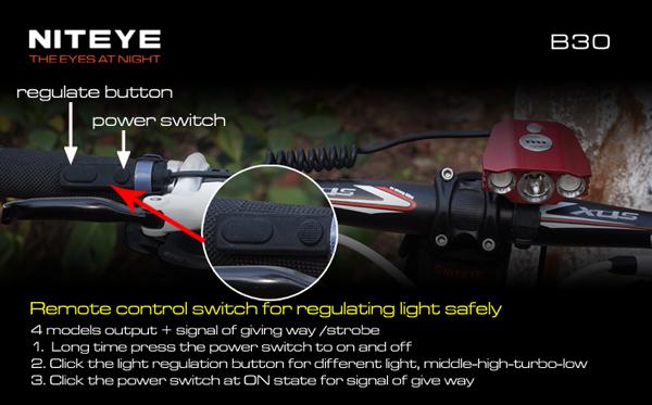 Köp Niteye B30 Cree XM-U2 LED 1000 Lumen Cykel Ljus ...