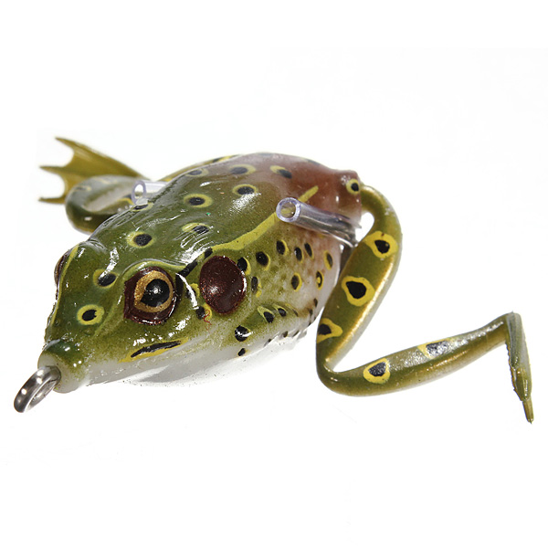 buy 55mm soft topwater fishing ray frog lures bass baits