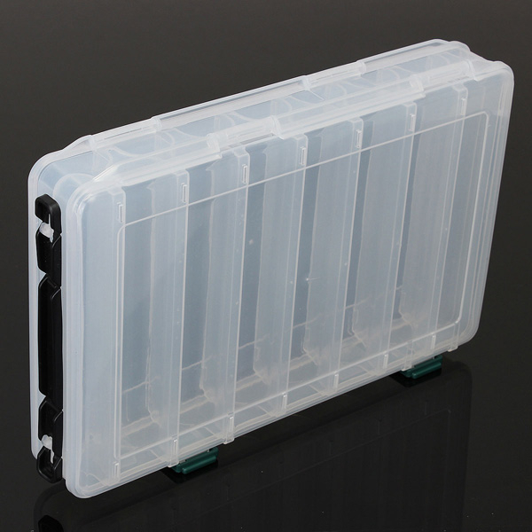 Buy Clear Plastic Fish Lure Hook Box 14 Compartments