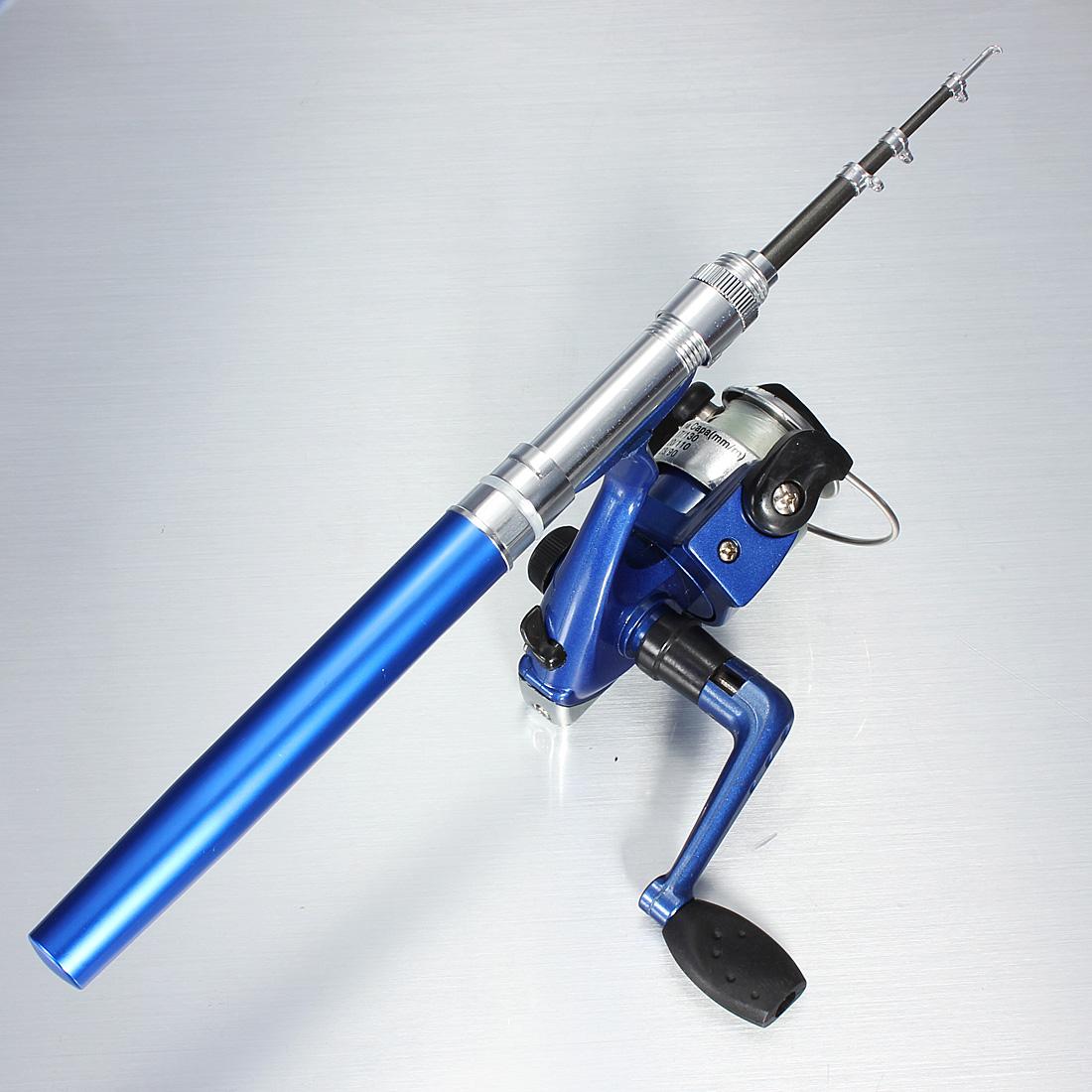 Buy mini telescopic portable pocket pen fishing rod reel for Mini fishing reel