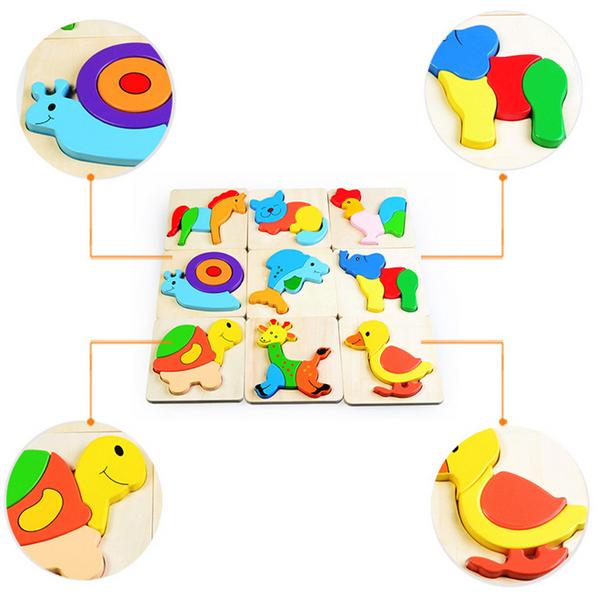 Preschool Toys Product : Buy d assembled elephant wooden puzzle preschool