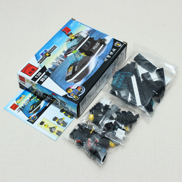 Unique Educational Toys : Buy enlighten swat special police speedboat assembly