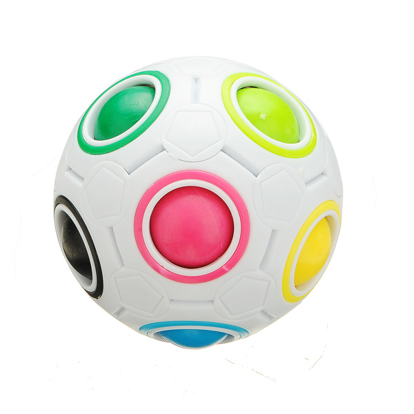 Boy Toys Description : Buy white rainbow magic ball plastic cube twist puzzle boy