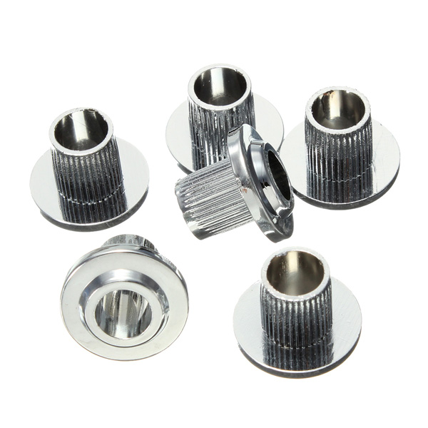 buy 6 x vintage guitar tuner conversion bushings adapter ferrules chrome. Black Bedroom Furniture Sets. Home Design Ideas