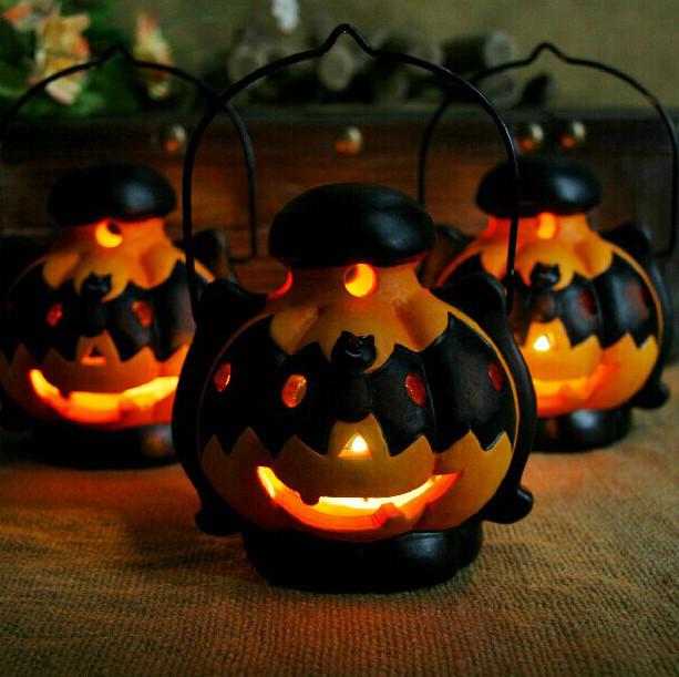Buy halloween decoration pumpkin light candlestick black - Where can i buy halloween decorations ...