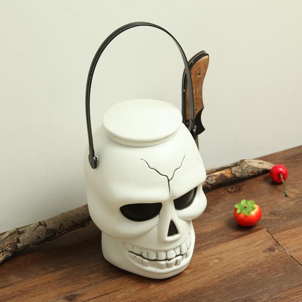 k p halloween dekoration skalle ljus barrel lykta. Black Bedroom Furniture Sets. Home Design Ideas